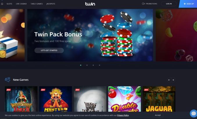 Twin Casino Übersicht, Bonus und beste Spiele